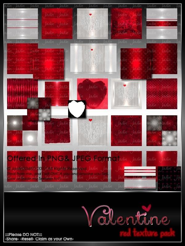 Valentine RED Texture Pack -- $5.00