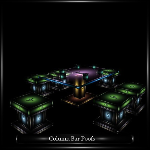 COLUMN BAR POOFS