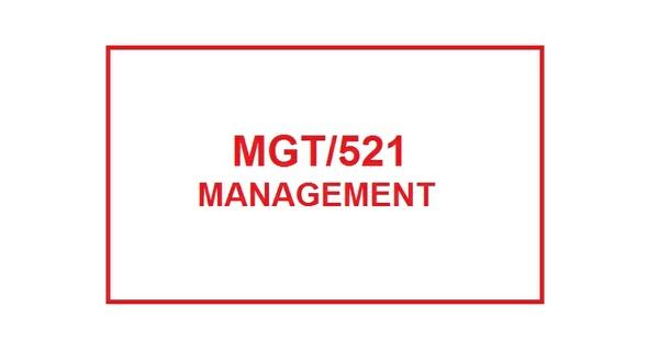 MGT 521 Week 2 Knowledge Check