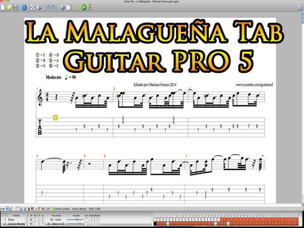 La Malagueña - Tablatura para Guitar Pro 5