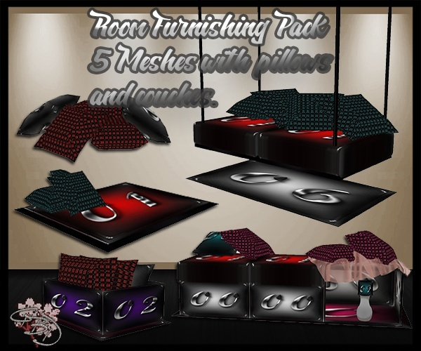 Room Furnishing Mesh Pack 5 Meshes