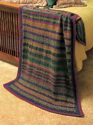 Knit Prairie Stripes Throw