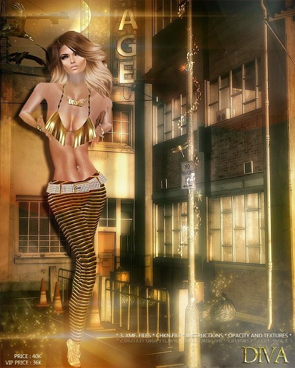 Diva Outfit IMVU MESHE & TEXTURE
