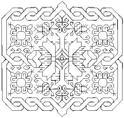 "Flower Square PES 4x4.2"""