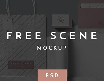 Free PSD Scene Mockup