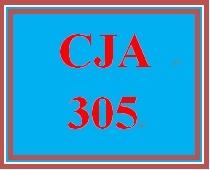 CJA 305 Week 3 Week Three Worksheet