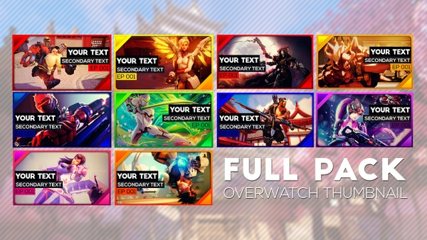FULL PACK OVERWATCH THUMBNAILS
