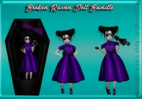Broken Raven Doll Catty Only!!!