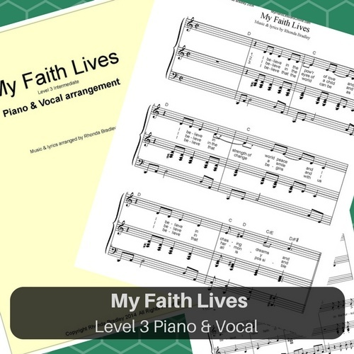 My Faith Lives piano sheet music