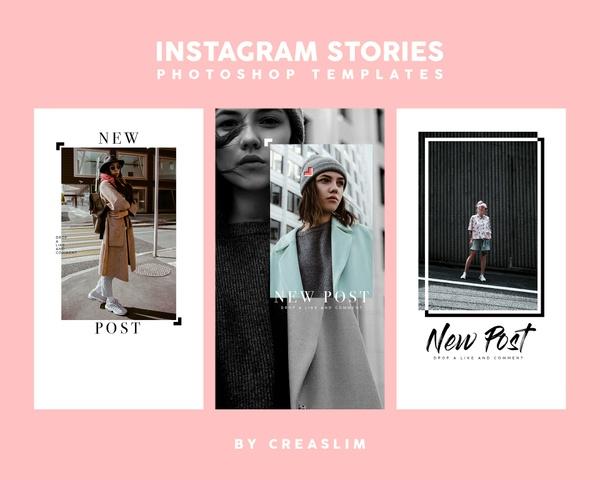 5 Instagram Stories Templates PSD 2018