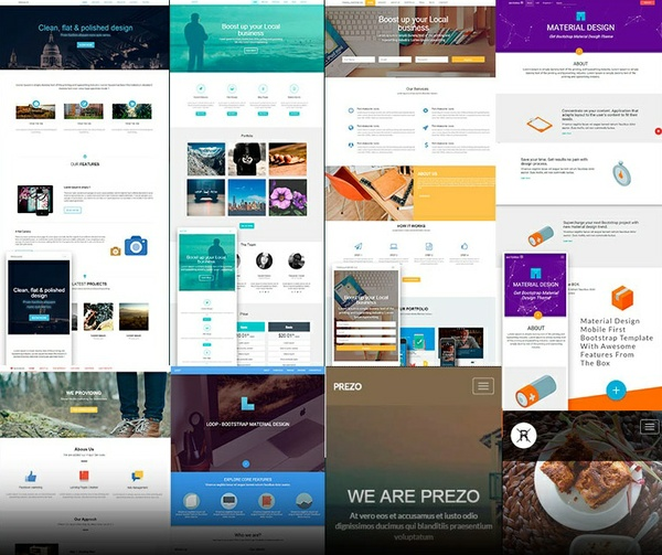 Bootstrap Templates Bundle 8 Responsive templates in 1 pack