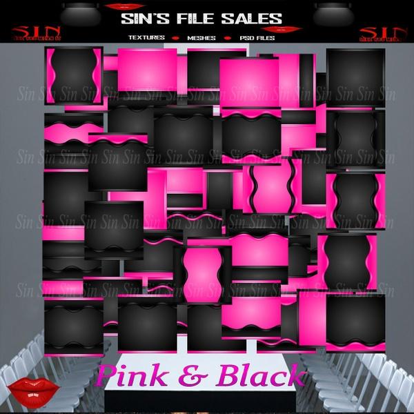 Black & Pink *50 Textures