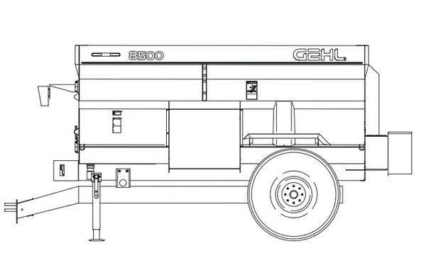 GEHL 8435/8500 Mixer Feeders (Includes Truck Mounted) Parts Manual