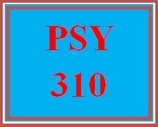PSY 310 Week 3 Personal Goal Paper