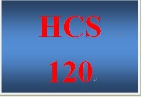 HCS 120 Week 1 Weekly Vocabulary Exercise Basic Health Care Language