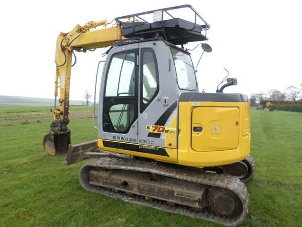New Holland E70BSR Midi Crawler Excavator Service Repair Manual Download