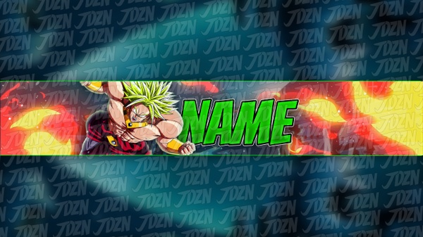 *NEW* Broly YouTube Banner Template - JDZN