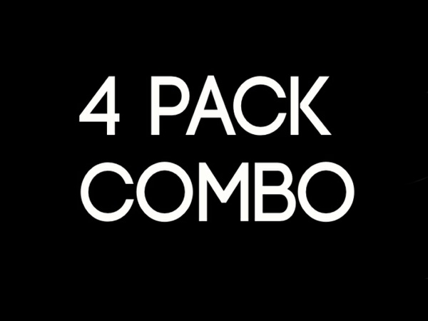 4 PACK COMBO (cow pack, funky bloo, sore red ,shadow pack)