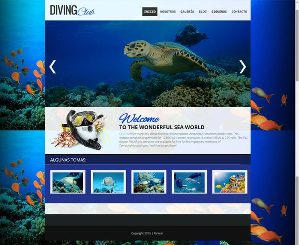 Template Blogger Diving CLub