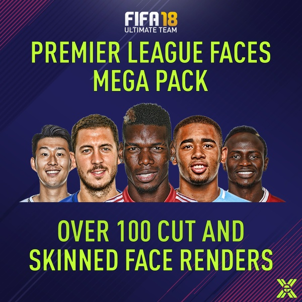 FIFA 18 PREMIER LEAGUE FACES MEGA PACK