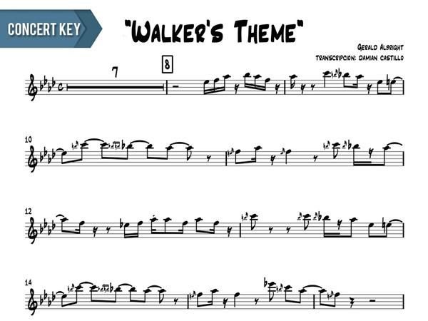"""Gerald Albright - """"Walker's Theme (live at java jazz fest)"""" - Concert Key"""