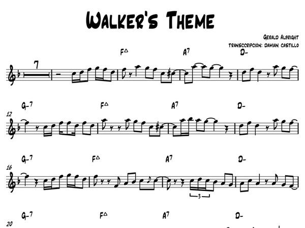 """Gerald Albright - """"Walker's Theme"""" - Sax alto."""
