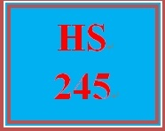 HS 245 Week 1 Supporting Activity Reading and Discussion
