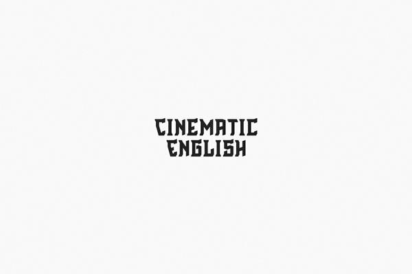 Cinematic English - Font