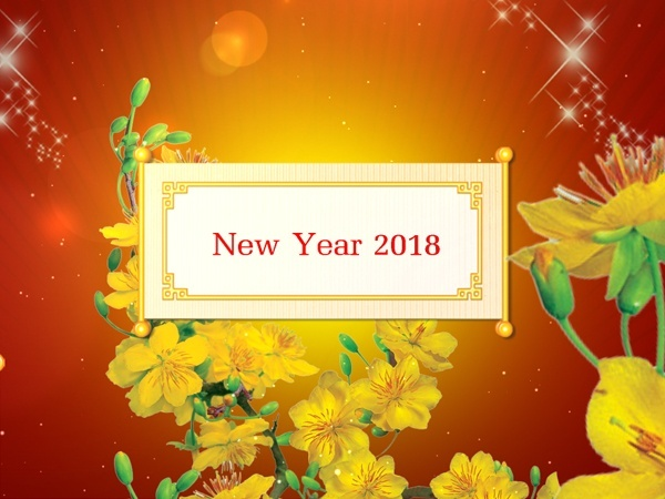 Blufftitler Template : New Year 2018 - Style 04
