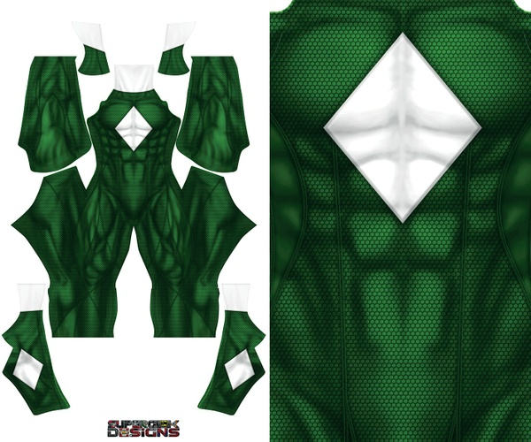GREEN POWER RANGER concept design pattern file