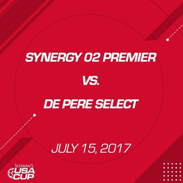 Boys U15 - July 15, 2017 - Synergy 02 Premier V. De Pere Select