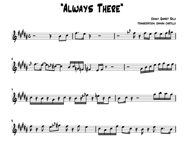 "Kenny Garrett - ""Always There solo"" - Sax alto."