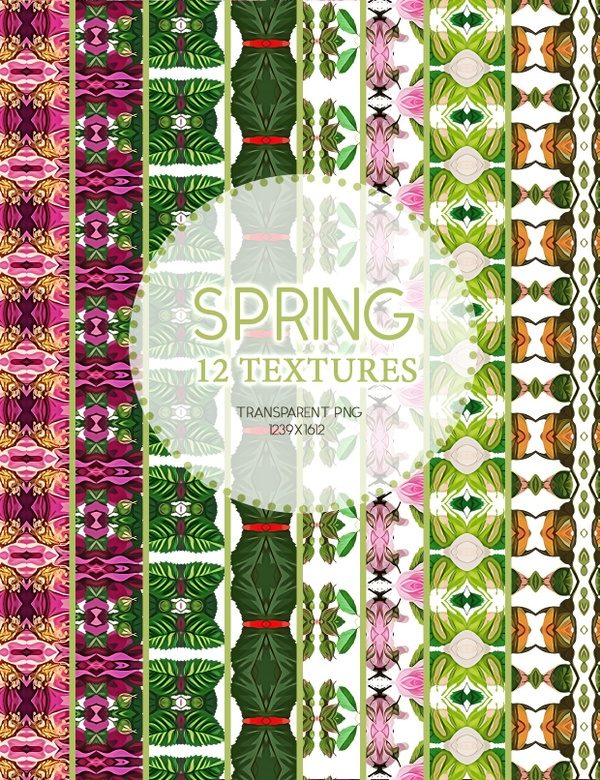 Spring Texture P1.10.04.17  / 12 Transparent textures PNG and PSD file