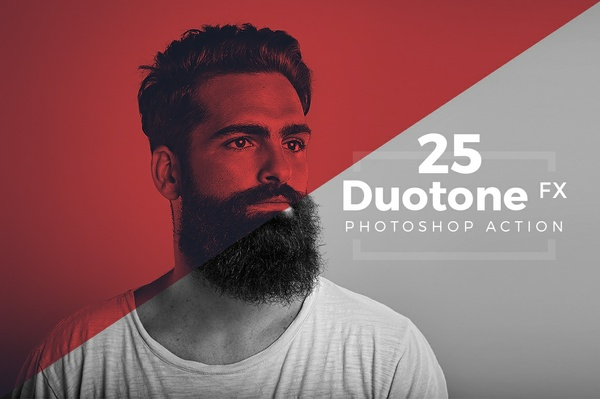 Duotone Photoshop Action Pack