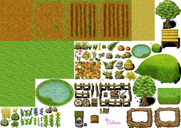 """Celianna's Parallax Tiles """"Old Farm Tiles"""""""