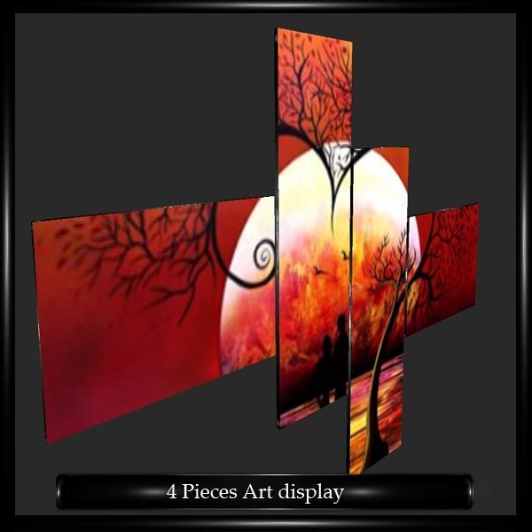 FOUR PIECES ART DISPLAY