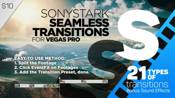 SONYSTARK Seamless Transitions Preset Pack for Vegas Pro