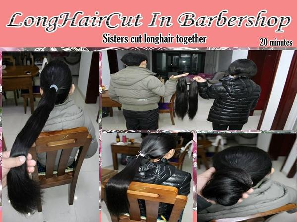 Sisters cut longhair together