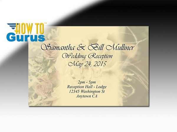 How to Design Wedding Invitation Cards in Photoshop CS5 CS6 CC