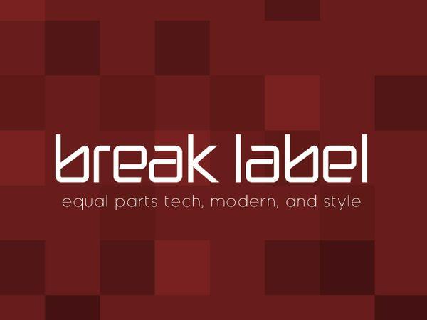 Break Label Font
