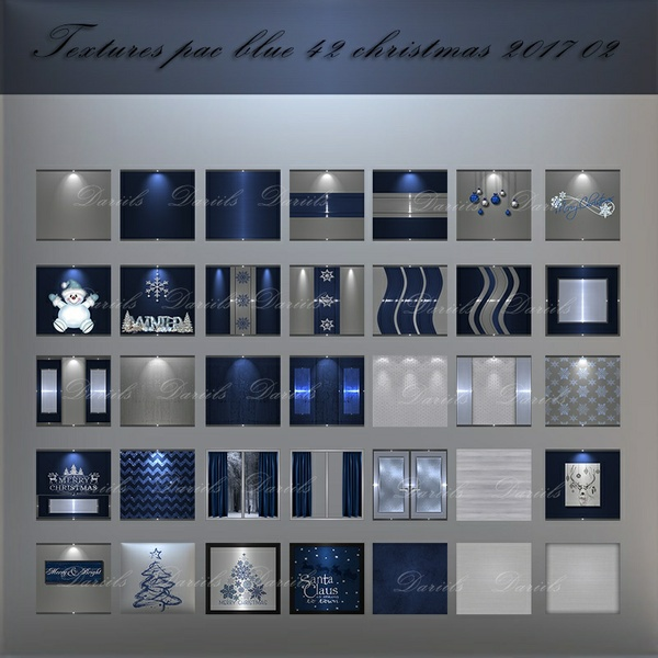 [D]Textures pack blue 42 christmas2017 n2
