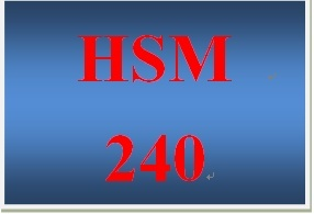 HSM 240 Week 3 Policy Elements