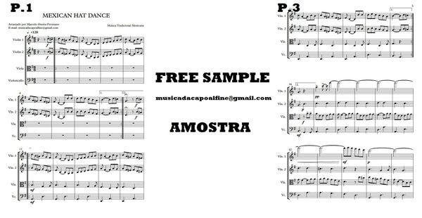 Quarteto - Mexican Hat Dance - Score and parts.pdf Partitura