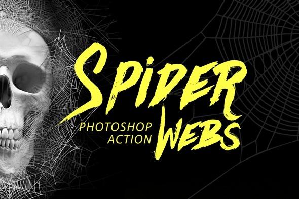 Spider Webs Photoshop Action