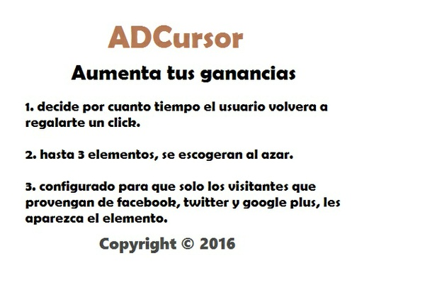 ADCursor Aumenta tus ganancias de ADSENSE - BLOGGER y WORDPRESS
