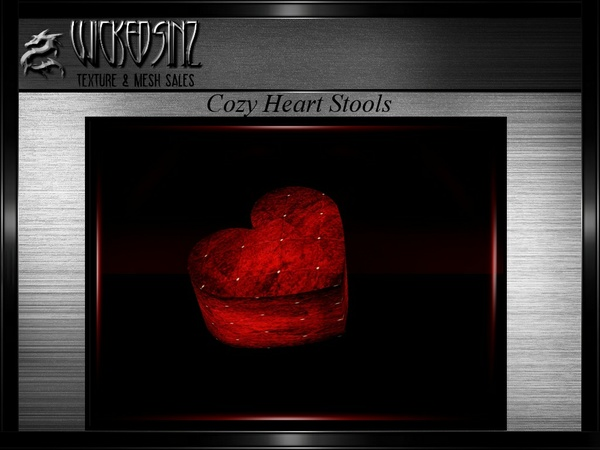 Valentine Heart Stool MESH - $3.00