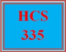 HCS 335 Week 4 Weekly Summary