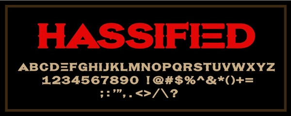 Hassified Font