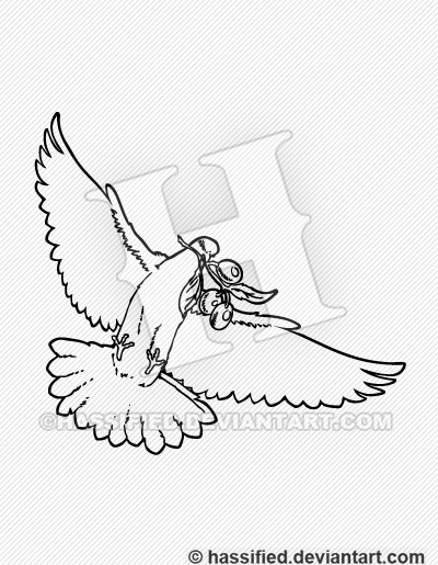 Dove with Olive Branch - printable, vector, svg, art