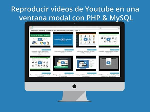 Reproducir videos de Youtube en una ventana modal con PHP & MySQL
